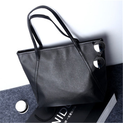 NIBESSER Simple Women Shoulder Bags PU Leather Large Capacity Casual Tote Handbags For Women 2017 Ladies bolsas feminina