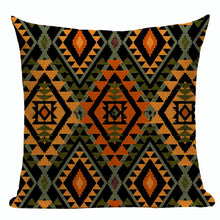 African National Stripe Bohemian Style Geometric Home Decorative Throw Pillow Covers Linen Ethnic Cushion Cover Case 45cm*45cm