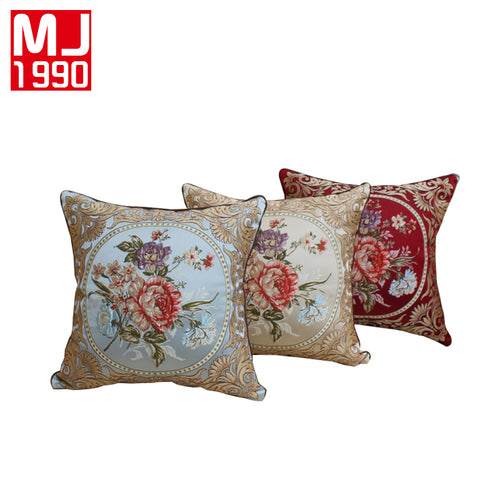 New Europe Style Jacquard Decorative Cushion Flowers Elegant Classic Throw Pillow Embroidered Cushion Size 48x48cm For Sofa Seat