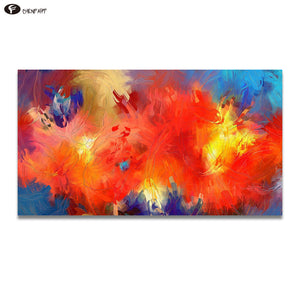 CHENFART  Modern Canvas Oil Painting Abstract Colorful Clouds or Wall Living Room Bedroom no Framed Home Decor
