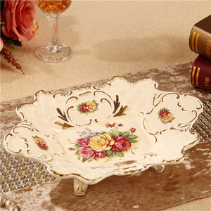 European fruit bowl suit ceramic decoration luxury home sitting room tea table furnishing articles