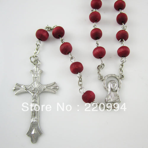 12pcs of Catholic Prayer Beads Rose Scented Wood Rosary