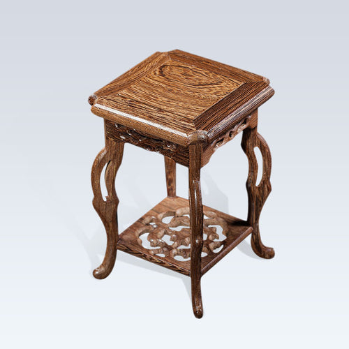 Wenge Base Wood Craft Home Accessories hippocampal platform base stone stone potted basin shelf