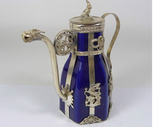 christmas decorations for home+ Metal Crafts Tibetan antique silver porcelain tea pot flagon