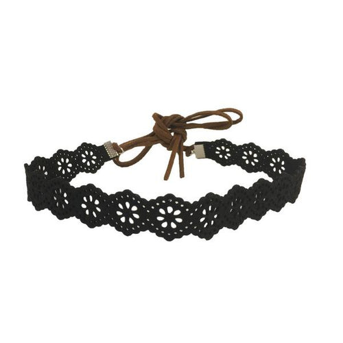 Perforated Leather Choker