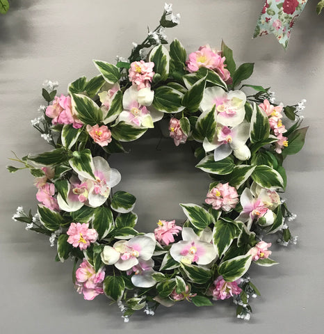 Light Pink Floral Wreath