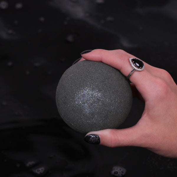 Dark Magic Charcoal Bath Bomb With Ring