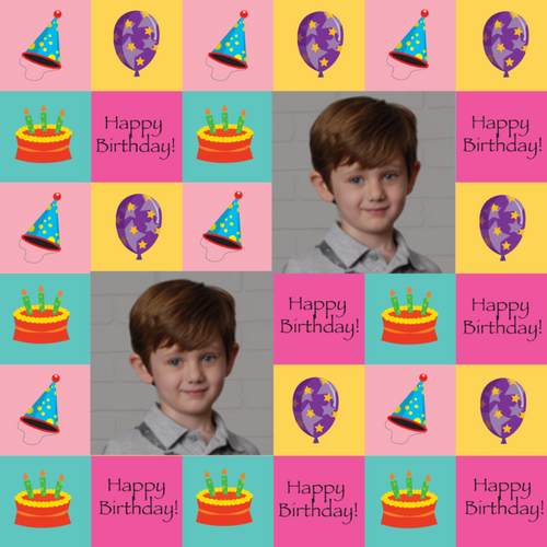Happy Birthday Gift Wrap Paper