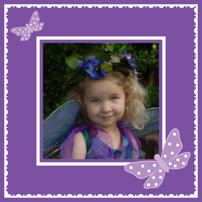 Purple butterfly custom photo gift wrapping paper