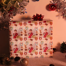 Cookies and hot cocoa with Santa custom photo gift wrap package