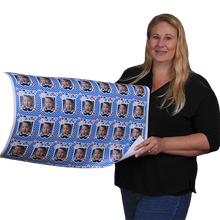 Blue Caps and Diplomas Graduation Class of 2021 Personalized Photo Gift Wrapping Paper