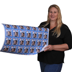 Black Caps and Diplomas Graduation Class of 2020 Personalized Photo Gift Wrapping Paper