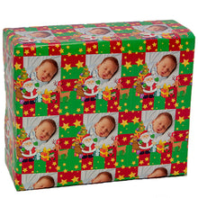 Designer gift wrapping paper with baby photograph