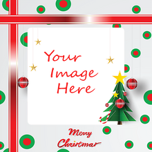 Your image here on custom printed gift wrapping paper template