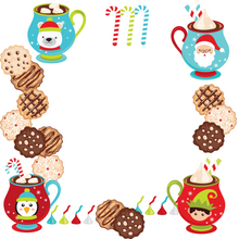 Cookies and Hot cocoa with Santa custom gift wrap template
