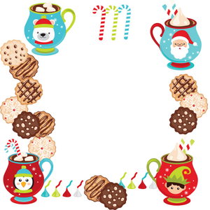 Cookies and Hot Cocoa with Santa Clause Gift Wrapping Paper