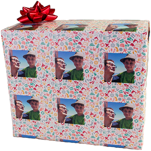 package wrapped in dolphins and starfish personalized with your photograph