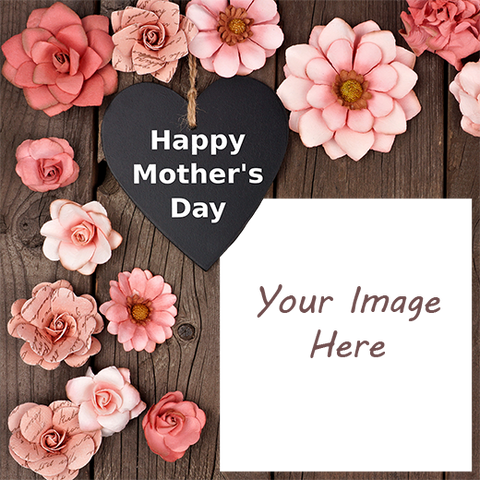 Happy Mothers Day Designer Gift Wrapping Paper with Your Image Here