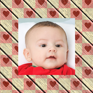 Baby photo on gift wrapping paper
