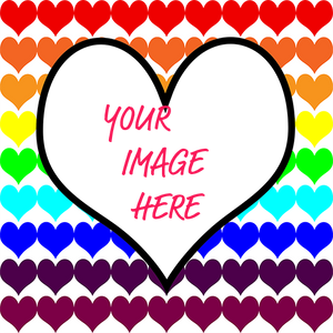 Rainbow hearts custom gift wrapping paper template with your image here text