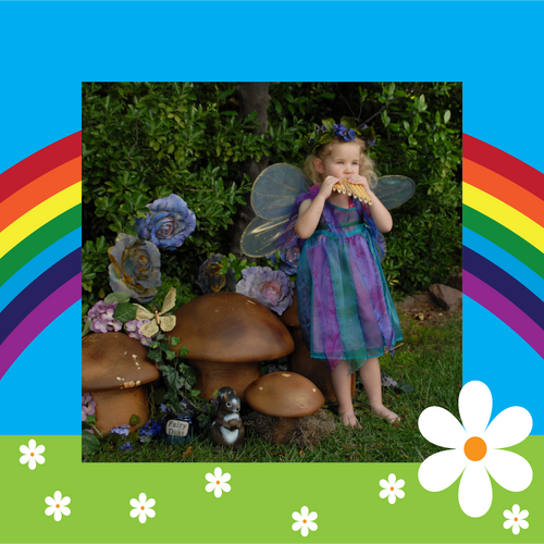 Rainbow custom photo gift wrapping paper