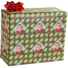 Green Stripe Christmas Gift Wrapping Paper