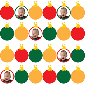 Rows of Ornaments Custom Printed Gift Wrapping Paper