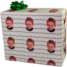 Birthday penants package with custom photo gift wrapping paper