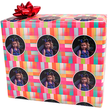 Colorful personalized photo gift wrapping paper