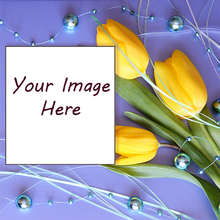 Your image here yellow lily with photograph personalized gift wrapping paper