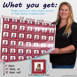 Infographic custom photo gift wrapping paper