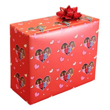 Red hearts valentine photo gift wrapping paper