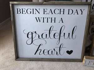 Begin Each Day with a Grateful Heart (D016)