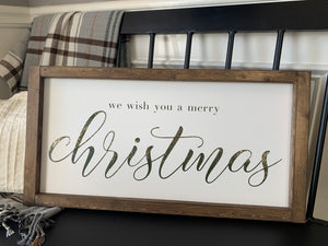 We wish you a Merry Christmas-farmhouse style (D220)