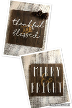 Thankful & Blessed/ Merry & Bright (D098)