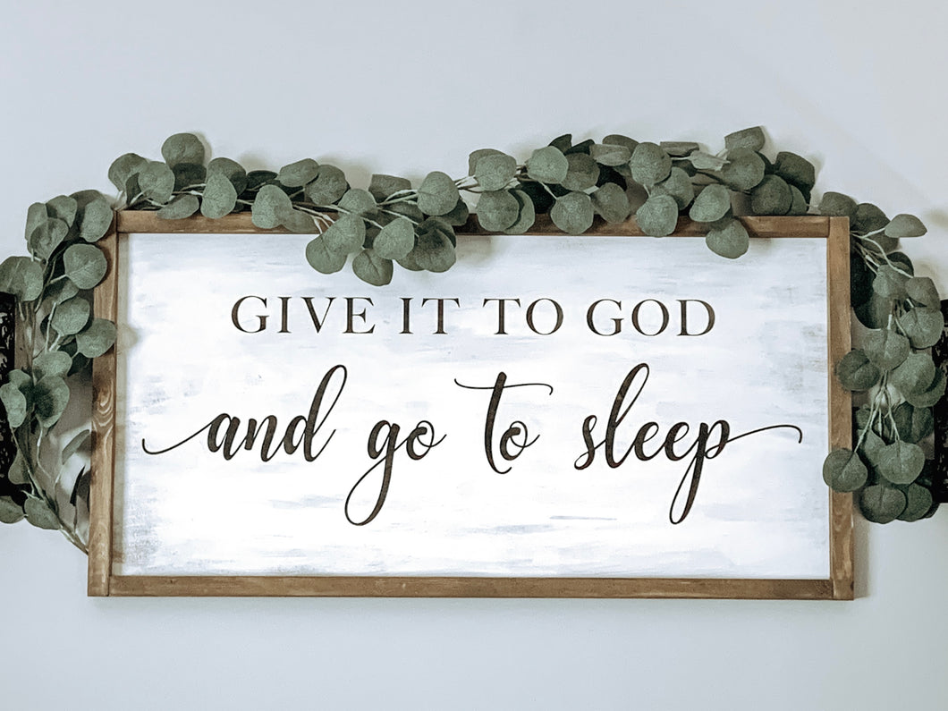 D157 Give it to God and go to sleep