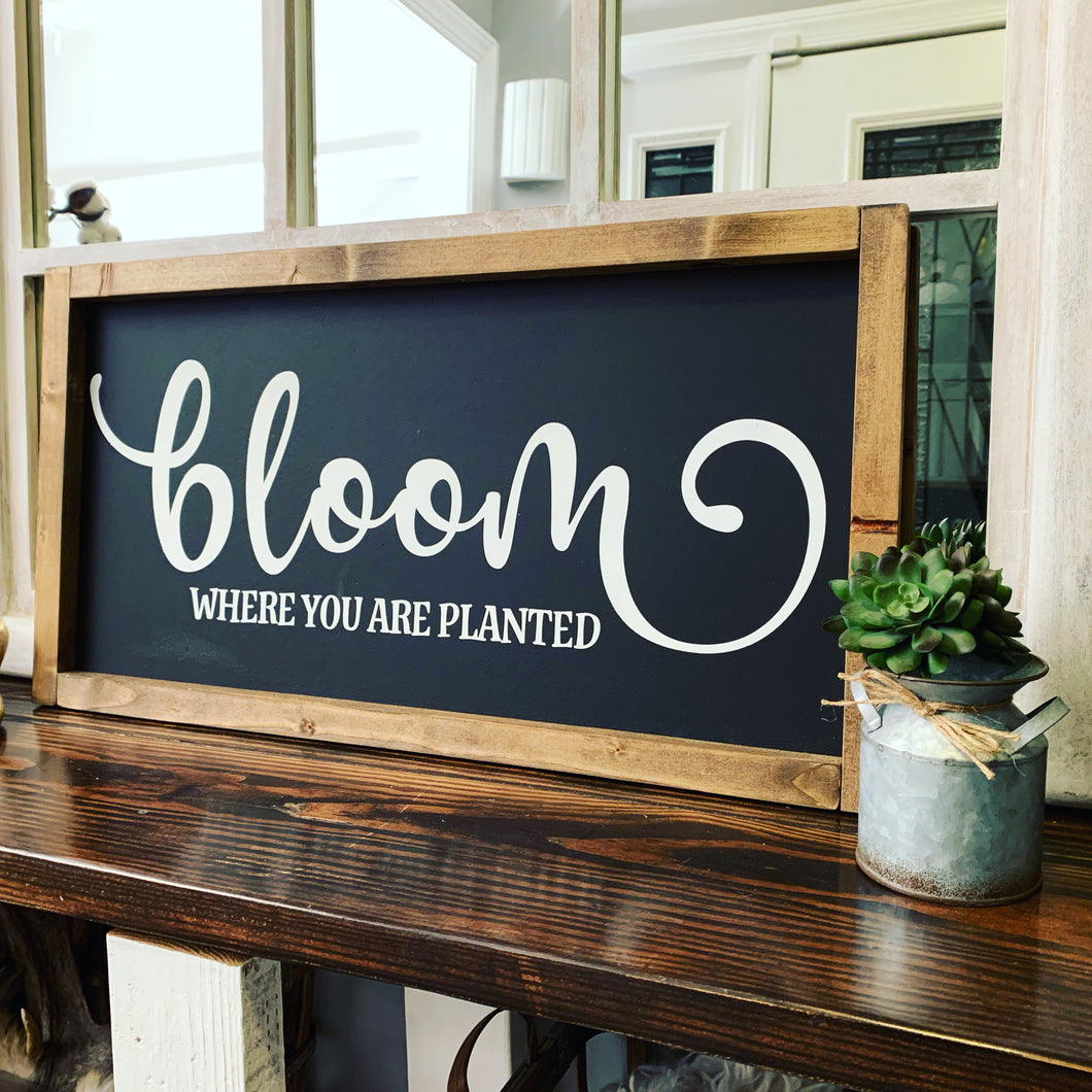 Bloom where you are planted (D254)