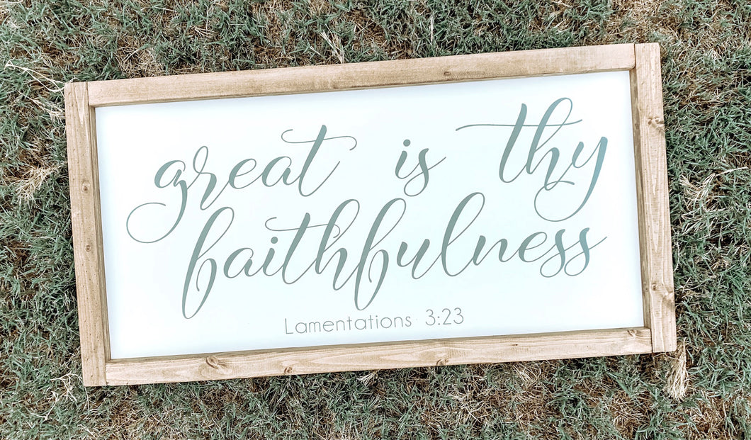 Great is Thy faithfulness (D050)