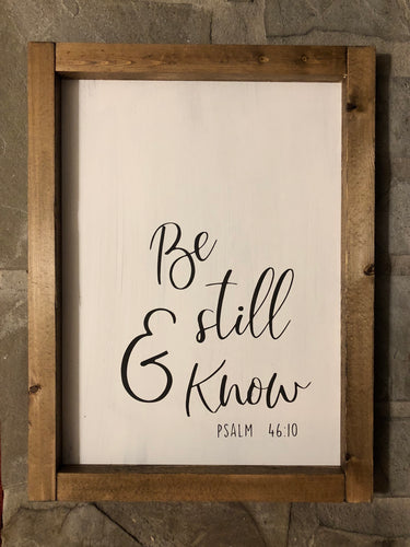 Be still and know (D012)