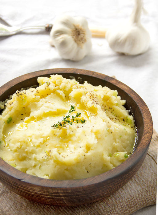 Olive Oil Mashed Potatoes Recipe + Martellotto Chardonnay