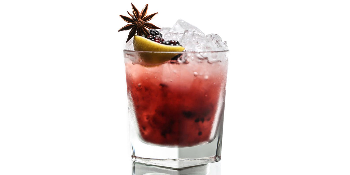 Blackberry Anise Champagne Coctail