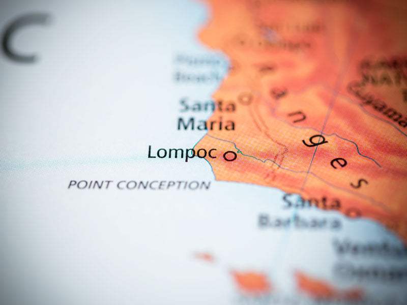 Lompoc, California, map