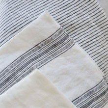 Linen Cushion Cover - Pinstripe Charcoal