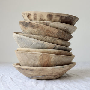 Small Vintage Wooden bowls