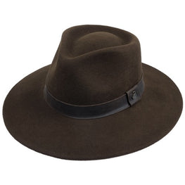 Brown wool felt hat