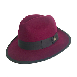 ON SALE The Tedesco Purple Wool Hat