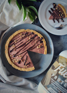 Keto Chocolate Peanut Butter Silk Pie