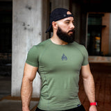 Fuego Olive Green Performance Shirt