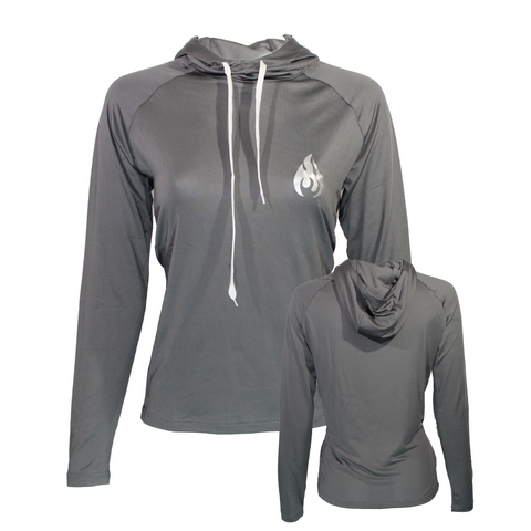 Women's Fuego Performance Titanium Grey Hoodie