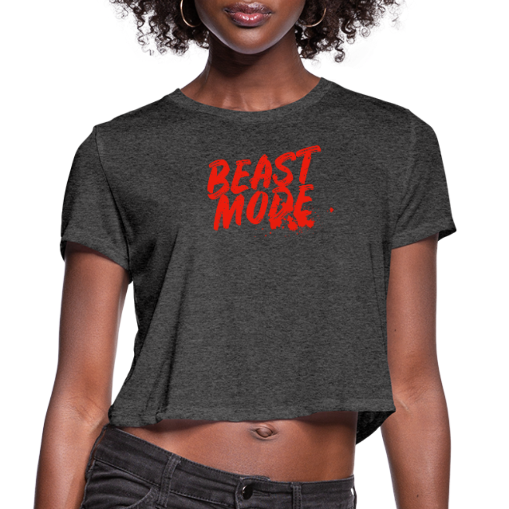 BEAST MODE Women's Cropped T-Shirt - deep heather